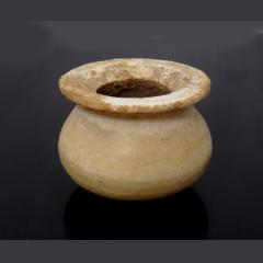 Egyptian New Kingdom Alabaster Kohl Jar