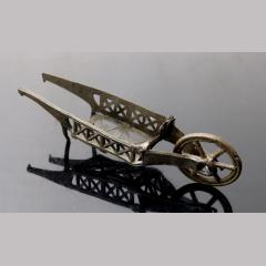 Stuart Period Miniature Pewter Toy Wheelbarrow