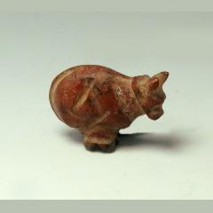 Rare Egyptian Red Jasper Amulet Of Bounded Cow (Rehen)