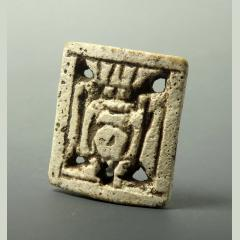 Egyptian Faience Openwork Bes Plaque Amulet